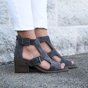 Nicole Gray Jahida Buckle Heeled Sandals